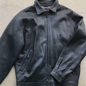 Polo Ralph Lauren leather Harrington black jacket